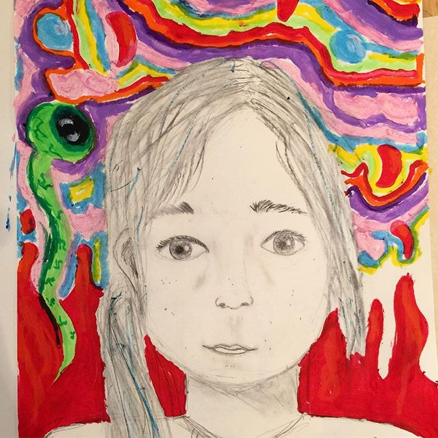 One of my favourite ways to nurture creativity as well as skill, is to combine observational drawing and imagination into the same session #portraiture #charcoal #gouache #graphite #imagination #childart