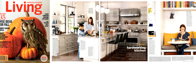 Hardworking Kitchen Story in the October 2014 issue of Living