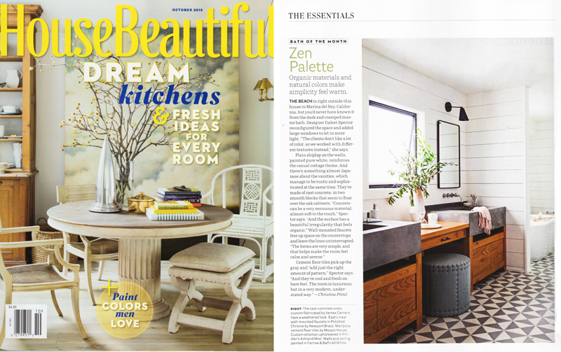 Zen Bathroom in the October 2015 issue of House Beautiful
