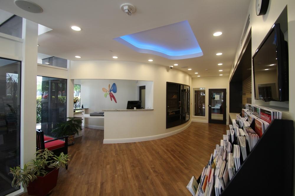 nuestra recepcion y area de ventas