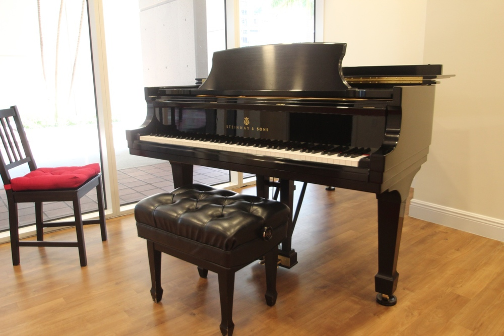 OUR BEAUTIFUL STEINWAY & SONS B GRAND PIANO