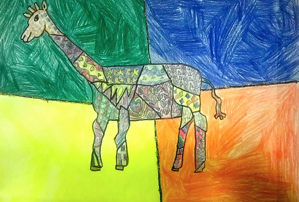 BY: AUXANE BATTIER, AGE 8, COLOR PENCIL