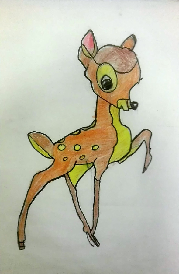 by: alex serrano, age 8, color pencil