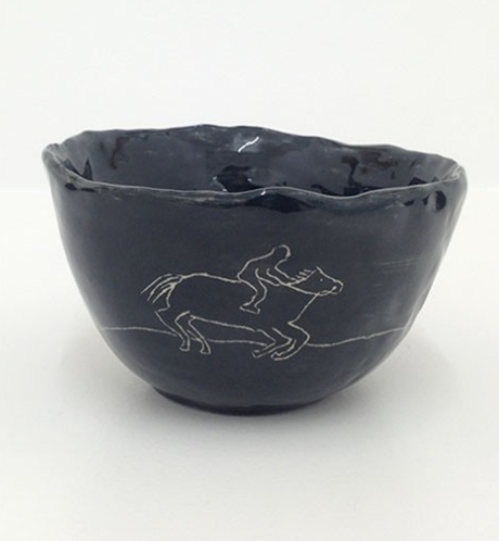 'Untitled (horse)' 2013   Ceramic bowl.