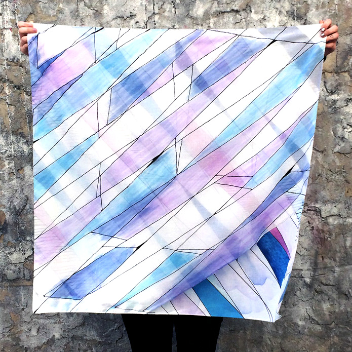 'Weaving' 2014 Limited Edition digital printed cotton scarf.