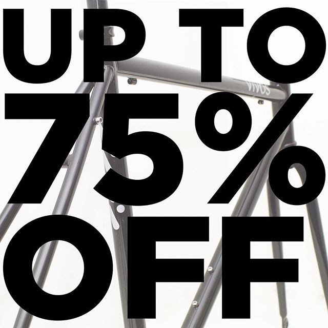 Shop with ease and confidence this weekend as we have taken up to 75% OFF everything in our webstore.  shop now: www.vivosbikes.com