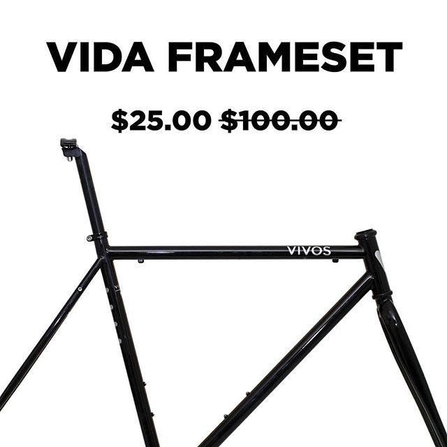 STEAL THE DEAL: The Vida frameset is now marked down to an unbelievable price! Includes a seat post and seat collar with every purchase.  Shop now at: www.vivosbikes.com