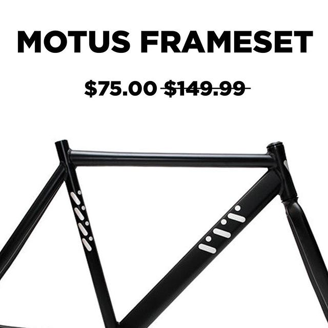 Another unbelievably priced markdown this Thanksgiving weekend! Our Motus framesets are now available along with everything in our webstore - up to 75% OFF.  Shop now at: www.vivosbikes.com