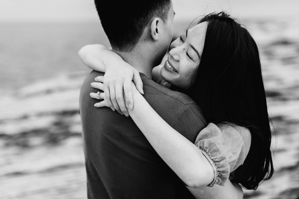 Lishien & Jason Engagement - Kurnell Cliffs - Samantha Heather Photography-21.jpg