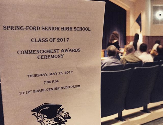 Honored to be presenting our 4th set of scholarships tonight. Congrats class of 2017!! 🏆🎓 . . . . . #springford #royersford #JLS5K #classof2017 #graduation #scholarships