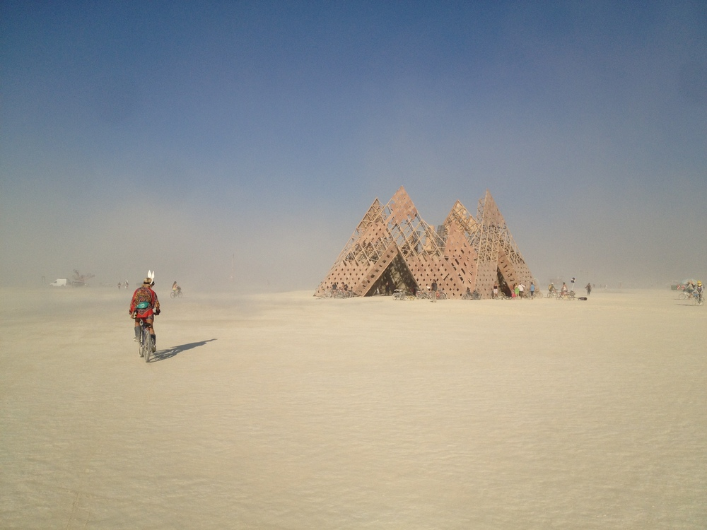 Temple that burned the last day of Burning Man.
