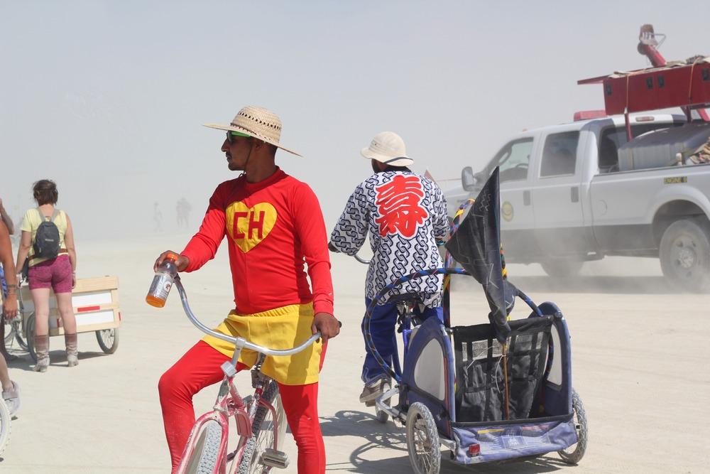 "There was a lack of ""colour"" on the playa - I was glad to meet these Mexican super heros"