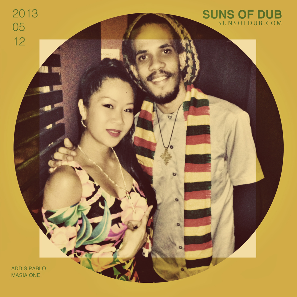 Hanging with Addis Pablo and Suns of Dub family at Brand New Machine Reggae & Dancehall night in NYC