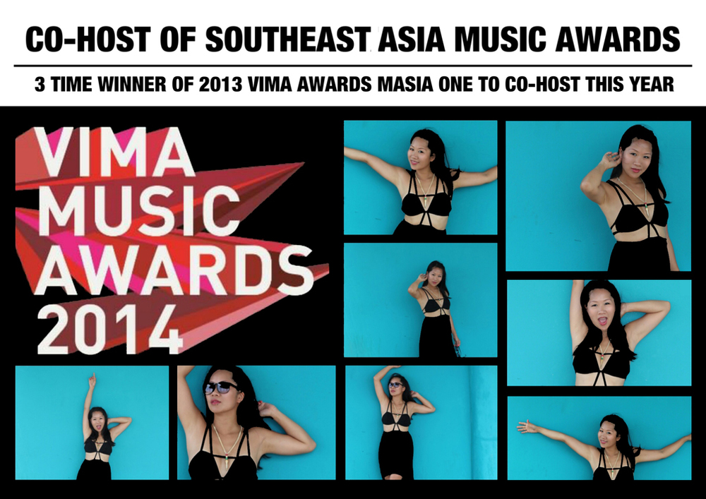 Masia One will be live and direct in Kuala Lumpur, Malaysia this Saturday March 22 to co-host the 2014 VIMA Southeast Asian Music Awards.
