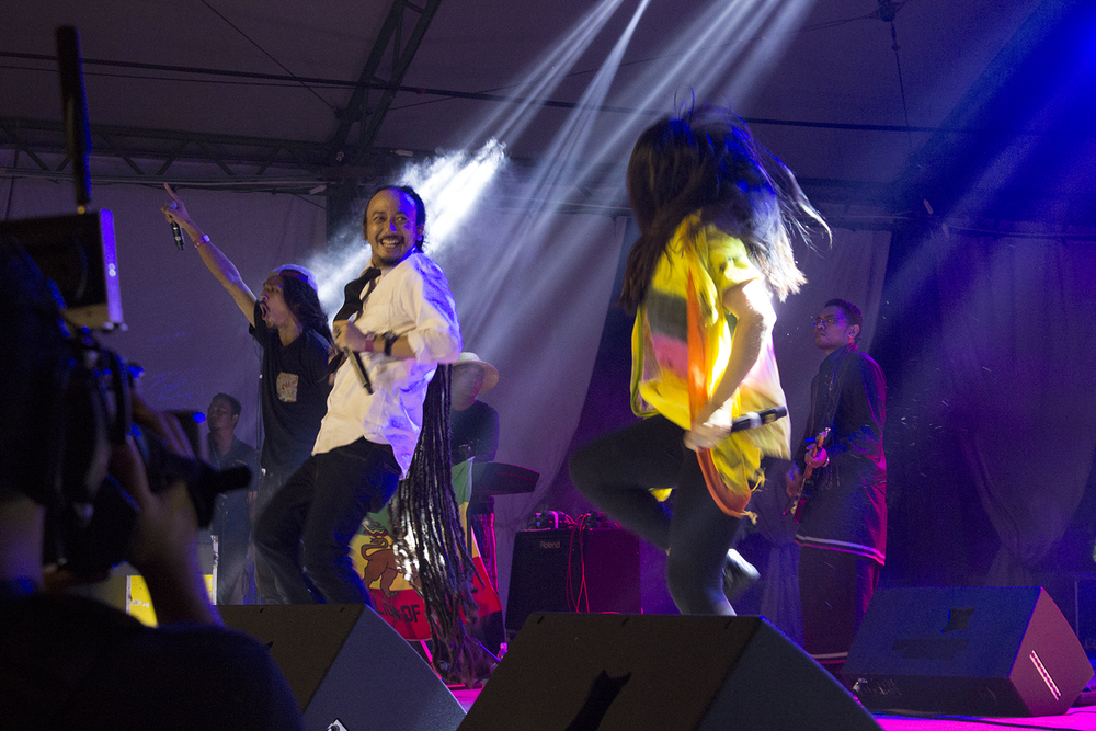 Sharing the stage with great artists like Ras Muhamad and Salam Musik at Asia Music Festival 2014