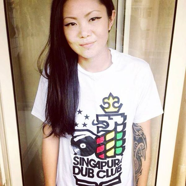 Singapura Dub Club : Building Asia Rockers family in the heart of Babylon. [ Chacha wearing the classic white Singapura Dub Club Tee.  ]