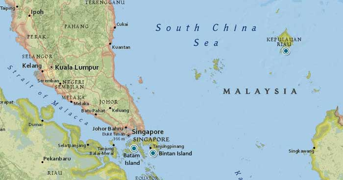 Singapura's neighboring Riau Islands remind us that we are still an island as well.