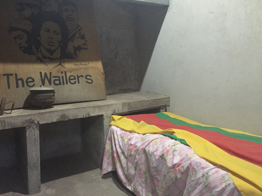 "Reiki and I made a stop in Trenchtown, a place where Bob lived and inspired many of his songs.  Here is the ""single bed"" he sang about - simple room where he stayed with Rita before becoming a global icon."