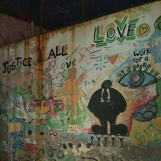 Writing on the wall in Trenchtown.