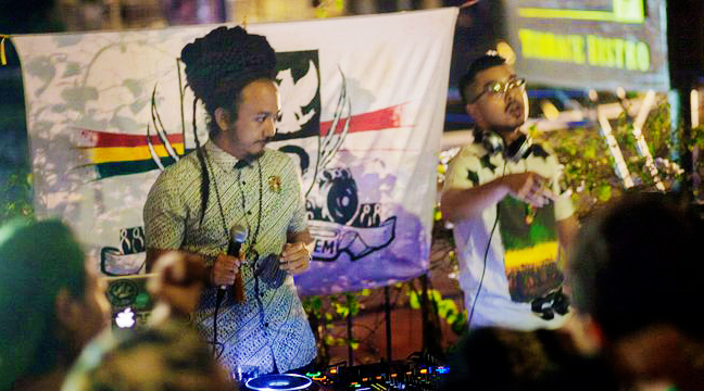 Asia Afrika Soundsystem is MC Ras Muhamad and Selecta King Lion Rock