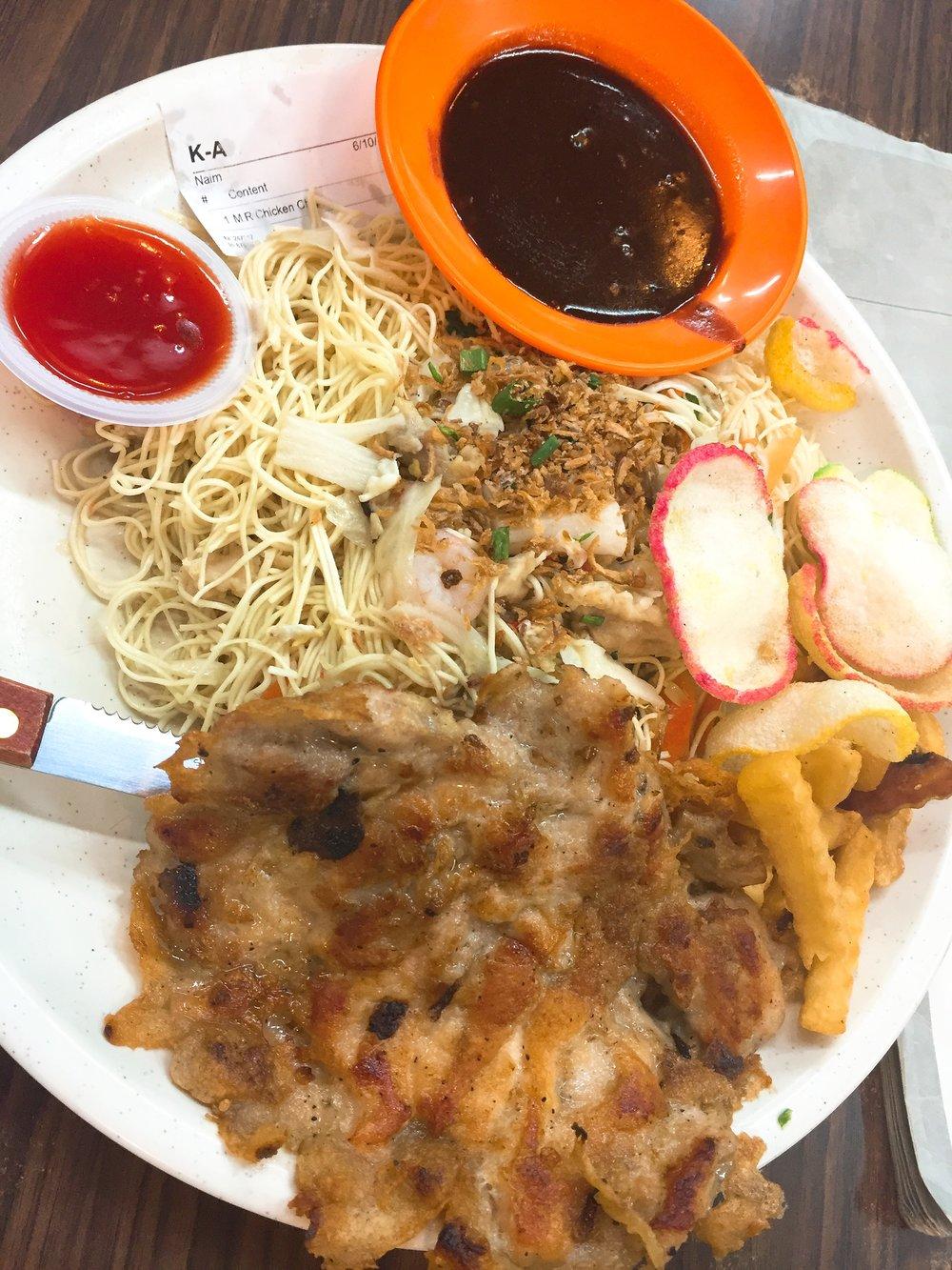 Mee Raja & Chicken Chop