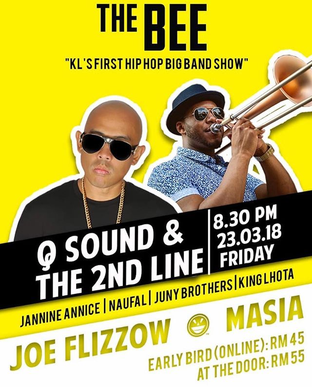 Hiphop celebrated with a 15 piece horn section, the best musicians in the biz and my favourite Malaysian artists? KL you doing Hiphop riiiiiiight! See everyone tonight. @qsoundmusic  @junybrothers @flizzow  @king_lhota_the_big_voice  @janineannice  #naufal . #hiphop #hiphopkl #bigband #brassband #thebee #publika #qsound #gig