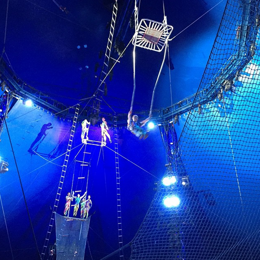 Don't look down! @BigAppleCircus #trapeze #iwish #bigapplecircus #sp