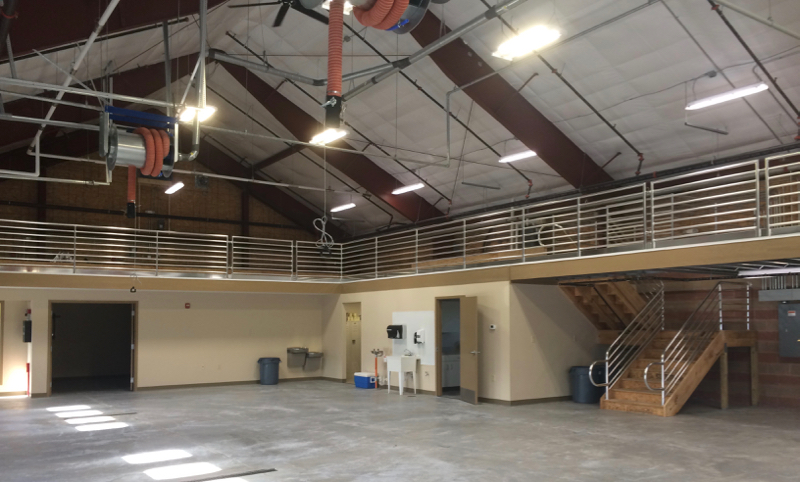 Interior of the fleet maintenance building. (Katrina Mae Leuzinger-Owens outerbanksvoice.com