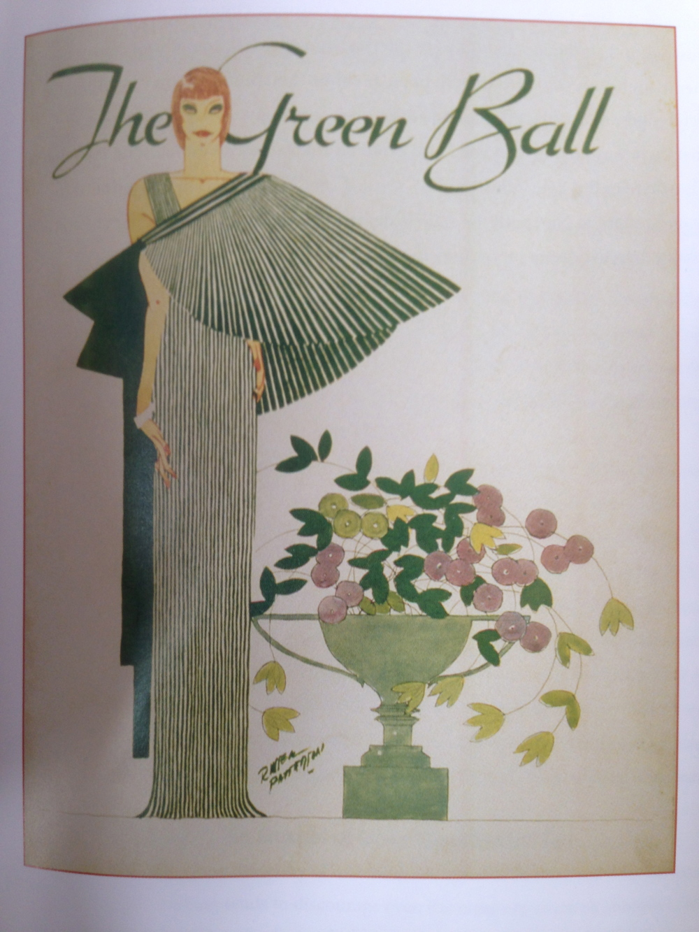 Invitation to the 1934 Green Ball, from the Edward L. Bernays papers, Library of Congress. From Blaszczyk,  The Color Revolution,  161.