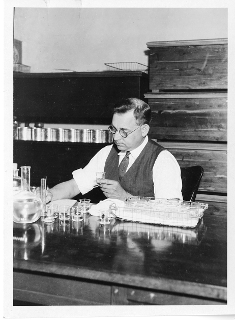 Ernest C. Crocker getting busy. From the Smithsonian Institution Archives: Acc. 90-105 - Science Service, Records, 1920s-1970s.
