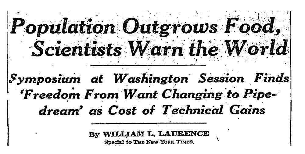 Scientists at the 1948 meeting of the American Association for the Advancement of Science fretted that technological advances . New York Times, September 15, 1948.