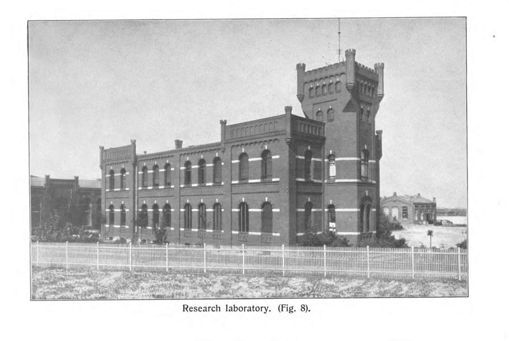 Research laboratory, site of the original Schimmel Library. From Schimmel & Co.'s Works, 1908.