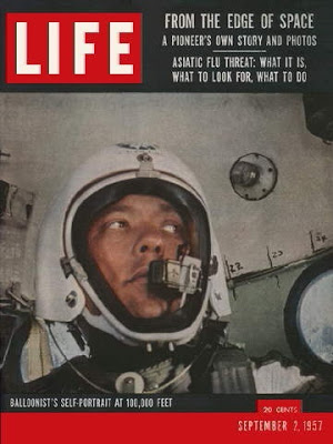 Man High selfie. Simons on the cover of  Life  magazine, September 2, 1957.