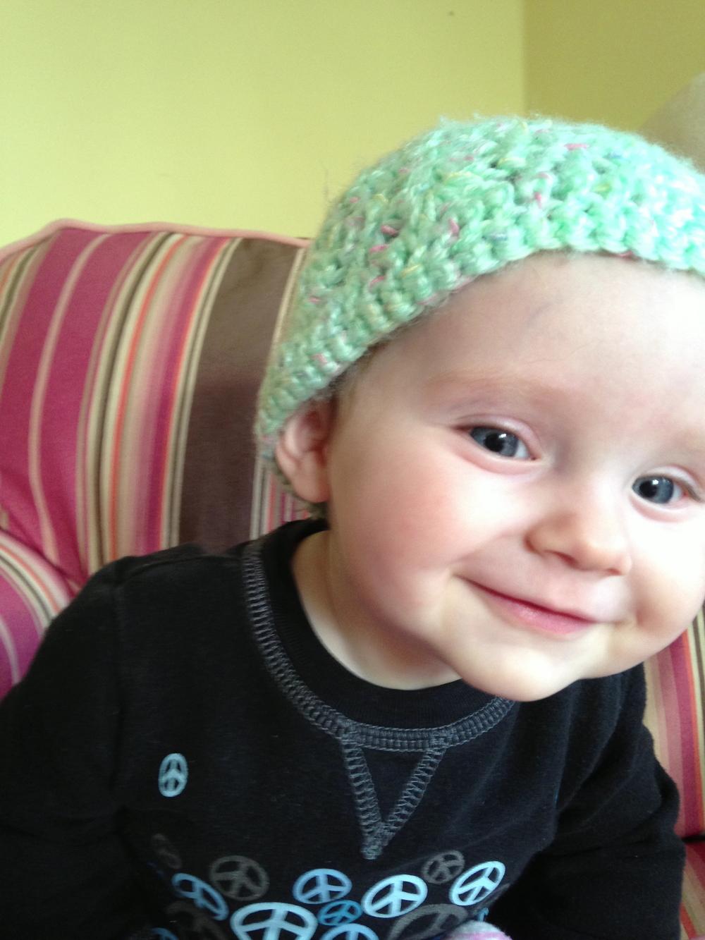 Elisabeth at seven months