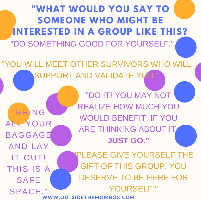 Thoughts from a few participants from a past peer support group.