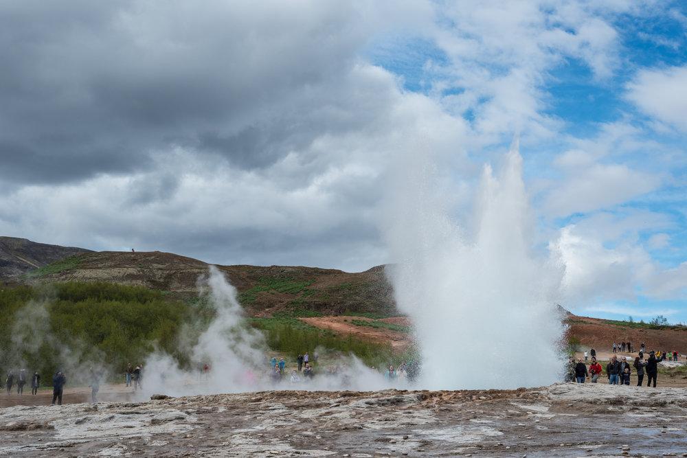 Geysir. Geyser. Iceland