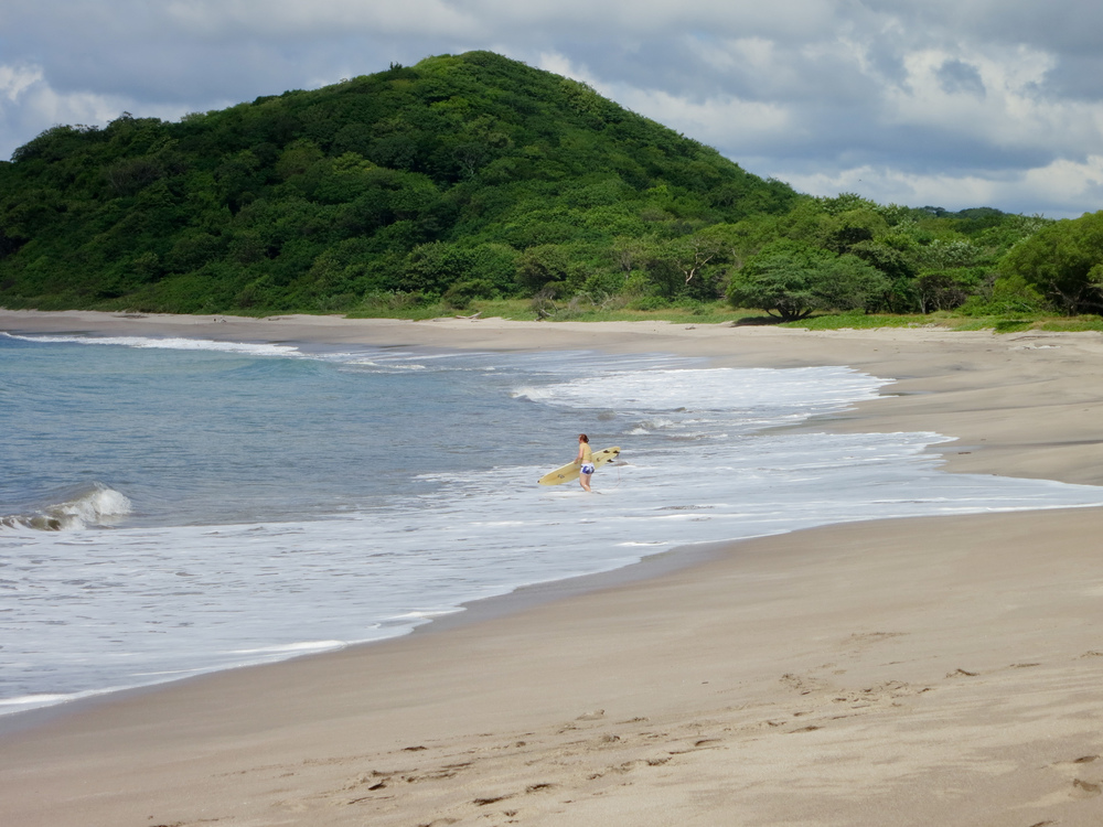 Surfing at Playa Catalina in Nicaragua