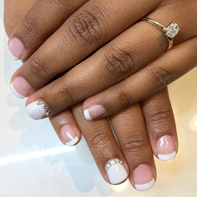 We had a beautiful bride today! French manicure by our new nail artist Brianne. . . . #nailstagram #nailsofinstagram #naildesign #naildesign #nailsoftheday #instanails #notd #nailsonpoint #lovemynails #nailpro #nailart #nails2inspire #megandiezsalon #manicure #pedicure #greenvillenails #greenvillepedicure #greenvillemanicure #yeahthatgreenville #nailsmagazine #megandieznails #gelnails