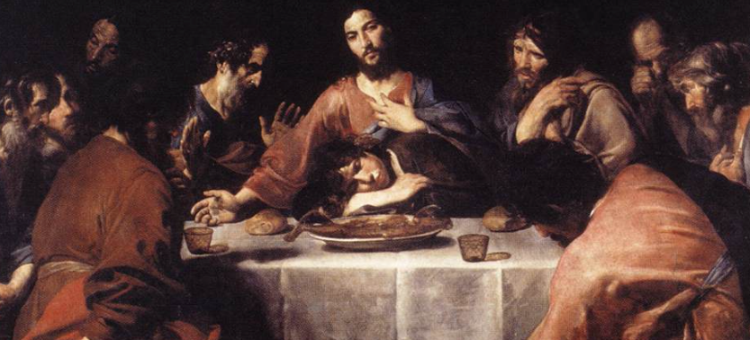 Jesus and John at the Last Supper, by Valentin de Boulogne