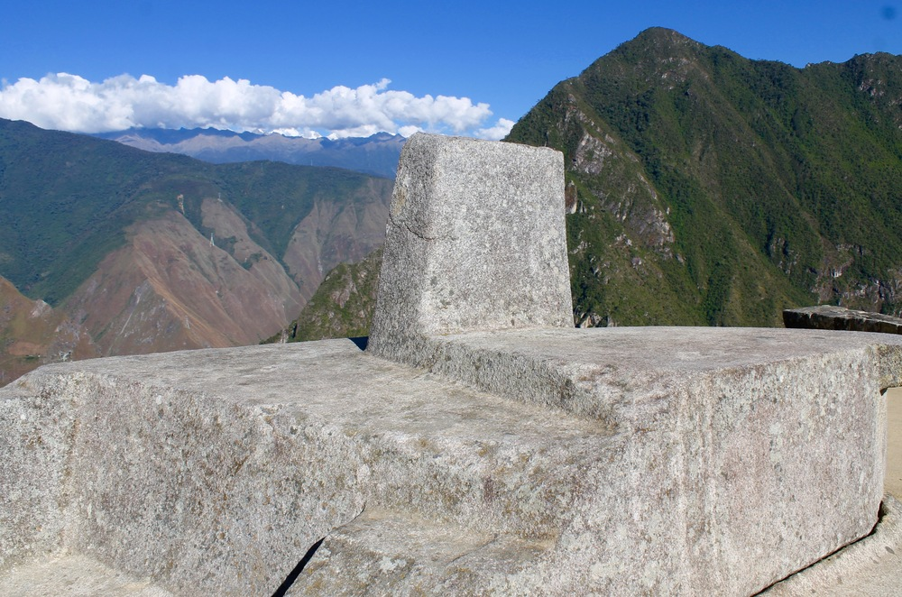The Intihuatana stone.  They think that rather than being an altar for slaughtering Llamas (although it could have been as well), that it is actually a large sun dial.