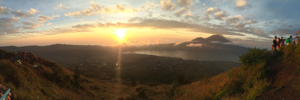 Sunrise from Mt. Batur volcano in Bali, Indonesia
