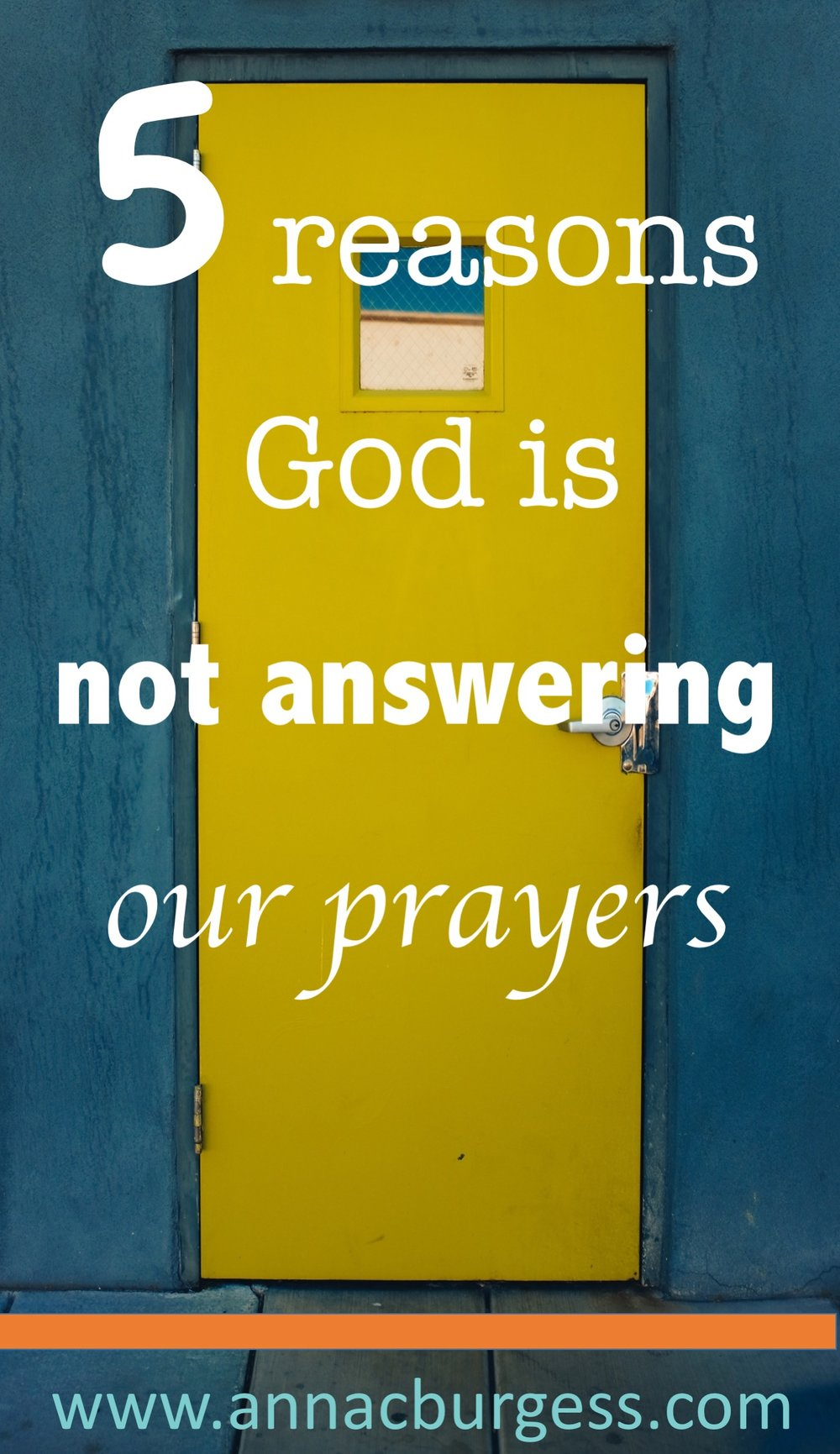 Reason 1: We think worrying is the same as praying...click the link to check out the other 5 reasons why God may not be answering your prayers #prayerhelp #prayertips #prayer