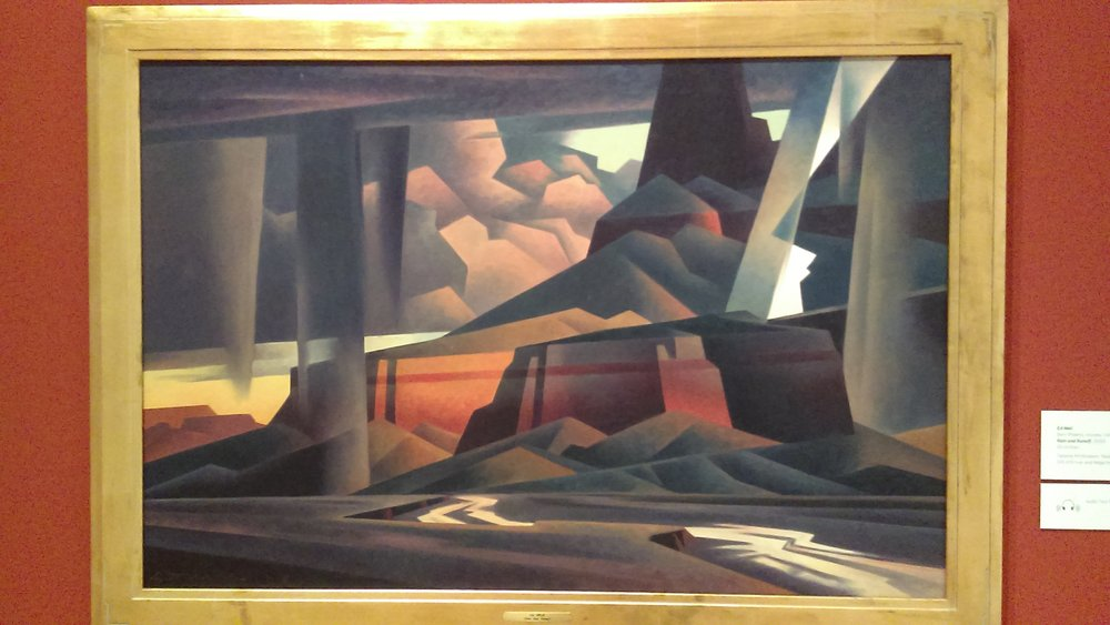 """Rain and Runoff,"" by Ed Mell (b. 1942). Tacoma Art Museum"