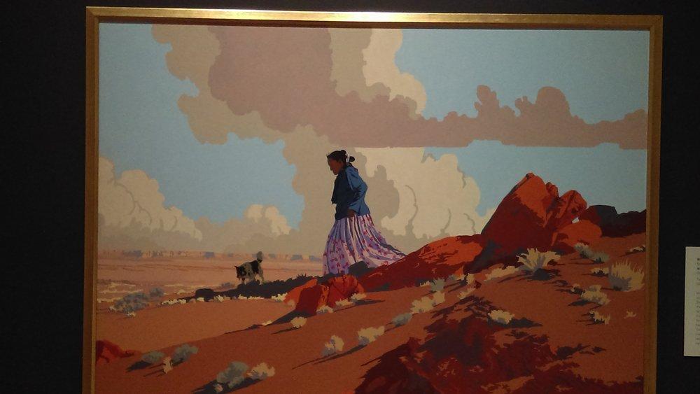 """An Ancient Place,"" by Bill Schenck (b. 1947) Tacoma Art Museum"