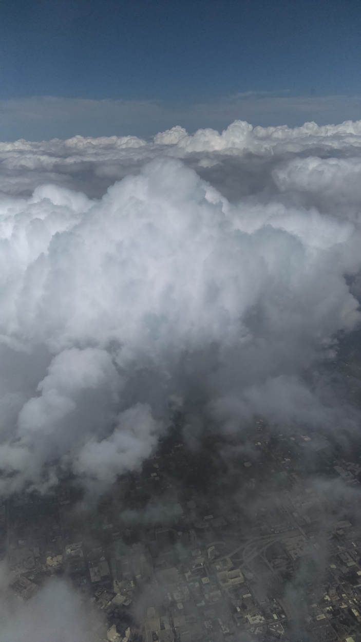 Cumulus congestus clouds building over Atlanta, Georgia, on Friday September 15. Read my new book to find out why you cannot and would not want to spend eternity lounging in one of these clouds.