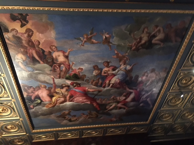 "From a  friend visiting Boston this week, I received these heavenly cumulus clouds from the ceiling  of the Isabella Stewart Gardener Museum. So many paintings use clouds to where gods, goddesses, and cupids cavort. This is the ""Coronation of Hebe"" by 16th-century painter Paolo Veronese.  Hebe is the Greek goddess of youth and cupbearer to the gods of Mt. Olympus. Nice work if you can get it!      Photo by Anne Kilgannon."