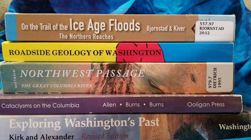 Just some of the readily available books on how our friend, the water molecule, ganged up on the Columbia Plateau. (Photo by M.M. Ruth)