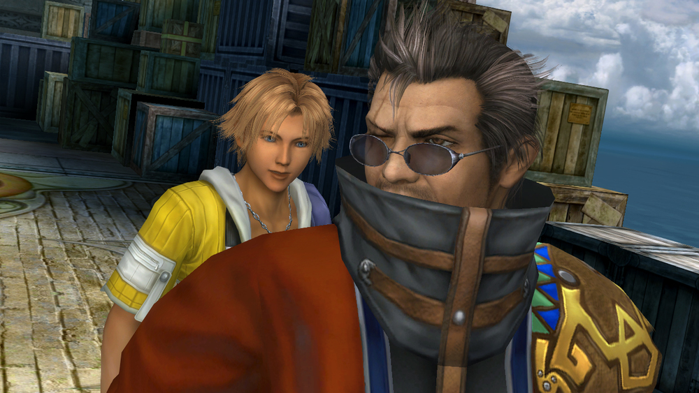 "Tidus and Auron. ""Why can't I quit you?""   Source"