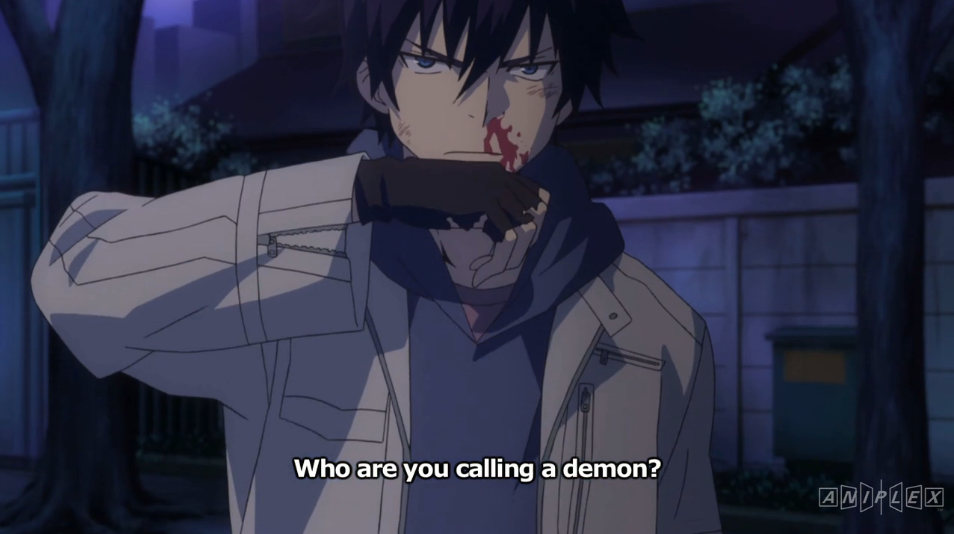 blue exorcist s01e01 fight over