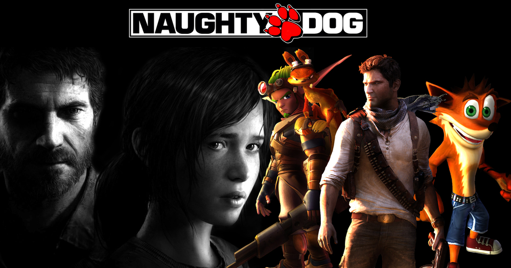 Naughty Dog created all of these.  All of them. Image: http://img2.wikia.nocookie.net/__cb20130502024832/thelastofus/images/c/c0/Naughtydog_by_comicsleo-d5c8k5h.jpg